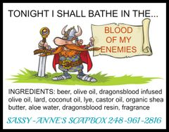 Bathe in the Blood of My Enemies Soap