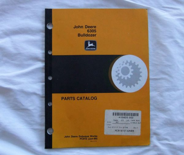 John Deere 6305 Bulldozer Parts Catalog PC916