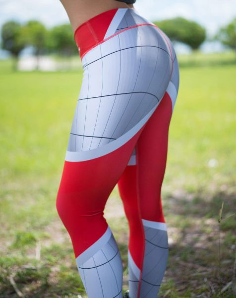 Silver/Red Leggings