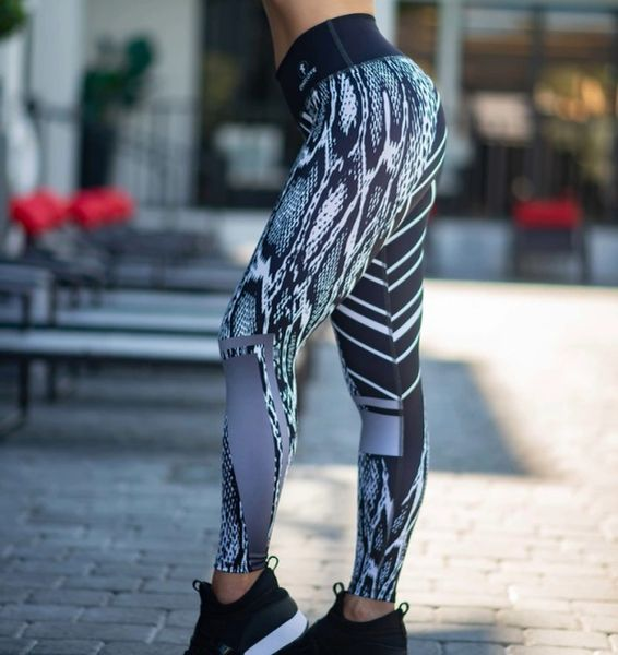 Black Print Leggings
