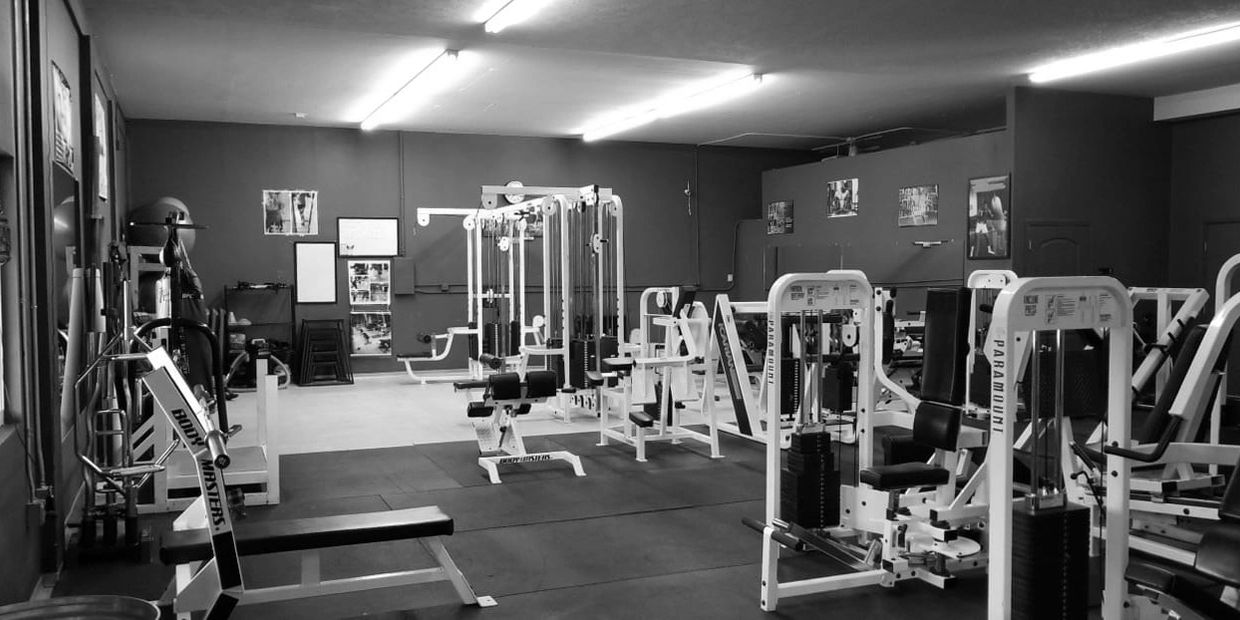 squat racks, weightlifting, plates, free weights  cable machines, barbells of all sizes, rogue racks
