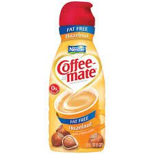 Nestle Coffeemate Fat Free Hazelnut Liquid Creamer