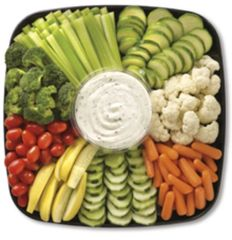 Fresh Vegetables & Dip Platter (feeds 8-10)