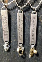 affirmation word band necklace
