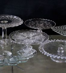 Vintage Glass Cake Plates