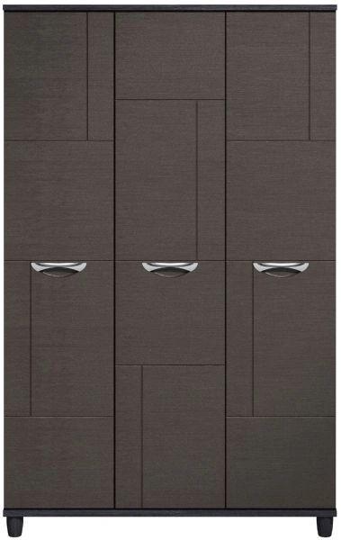 Moda Black Oak & Graphite Wardrobe - 3 Doors