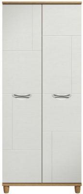 Moda Oak & white Wardrobe - 2 Doors