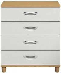 Moda Oak & white Chest of Drawers - 4 Drawers