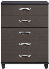 Moda Black Oak & Graphite Large Chest of Drawers - 5 Drawers