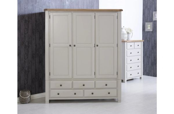 Woodstock 3 Door 5 Drawer Wardrobe