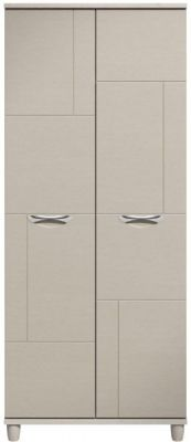 Moda elm & cashmere Wardrobe - 2 Doors