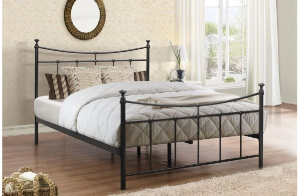 Emily bed black/cream frame