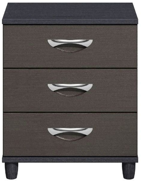 Moda Black Oak & Graphite Large Chest of Drawers - 3 Drawers