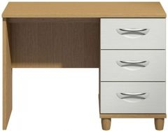 Moda Oak & white Dressing Table - 3 Drawers