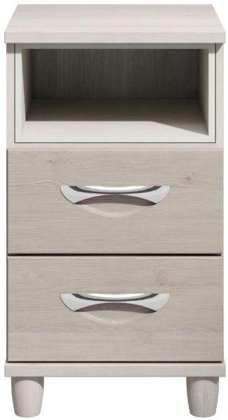 Moda elm & cashmere bedside Cabinet - 2 Drawers