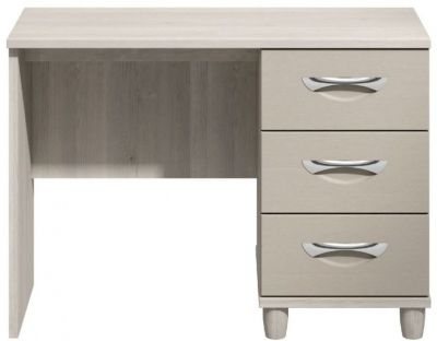 Moda elm & cashmere Dressing Table - 3 Drawers