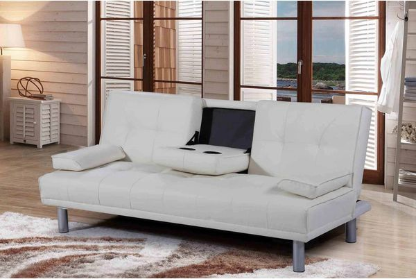 Manhattan Sofa Bed- Black, White, Brown,