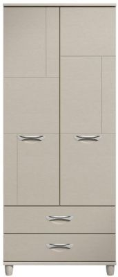 Moda elm & cashmere Wardrobe - 2 Doors 2 draws