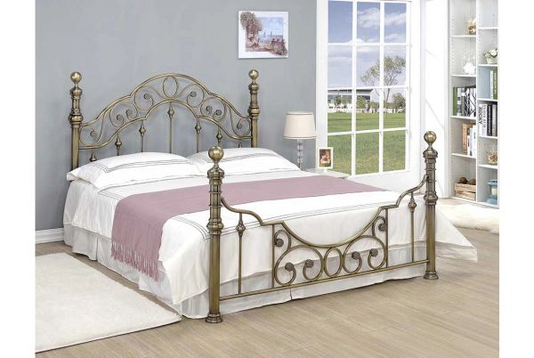 Canterbury Antique Brass Bed- Double or King Size | carpets,laminate ...