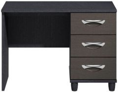 Moda Black Oak & Graphite Dressing Table - 3 Drawers