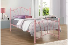 sophia pink/cream single bed frame