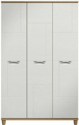 Moda Oak & white Wardrobe - 3 Doors