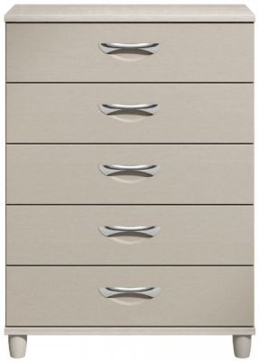 Moda elm & cashmere Large Chest of Drawers - 5 Drawers