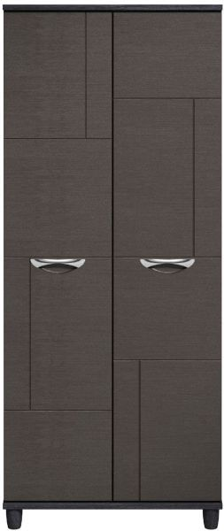 Moda Black Oak & Graphite Wardrobe - 2 Doors