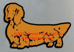 Longhaired Dachshund Standing Magnet - Choose Color