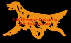 Irish Setter Trotting Decal
