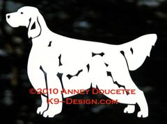 English Setter Standing Decal