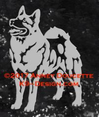 Norwegian Elkhound Standing Decal