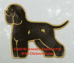 Irish Water Spaniel Standing Magnet