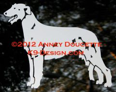 Irish Wolfhound Standing Decal - Choose Color