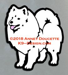 American Eskimo Dog Standing Magnet