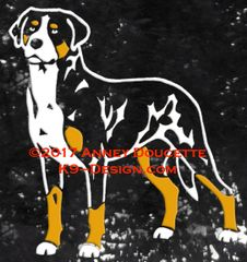 Greater Swiss Mountain Dog Standing Front Decal