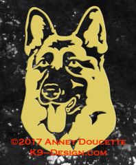 German Shepherd Dog Headstudy Decal