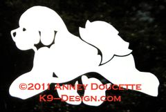 Bichon Frise Trotting Decal