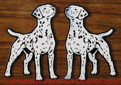 Dalmatian Standing Front Magnet - Choose Color