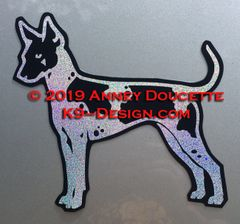 American Hairless Terrier Standing Magnet