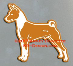 Basenji Stacked Magnet - Choose Color