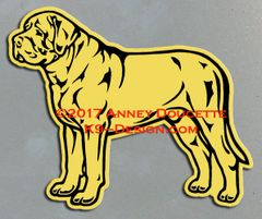 Mastiff Stacked Magnet - Choose Color