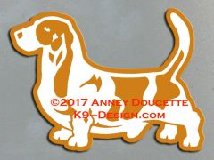 Basset Hound Stacked Magnet - Choose Color