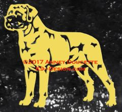 Mastiff Stand Front Decal - Choose Color