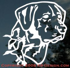 Labrador Retriever Headstudy with Ducks Decal
