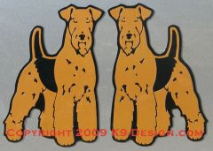 Airedale Terrier Standing Magnet