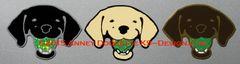 Labrador Retriever Head with Tennis Ball Magnet - Choose Color