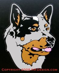 Australian Cattle Dog Headstudy Large Magnet