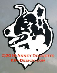 Collie - Smooth - Headstudy Magnet - Choose Color