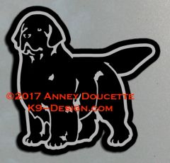 Newfoundland Stand Front Magnet - Choose Color